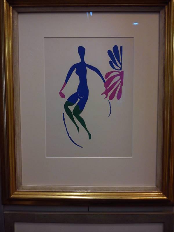 Lithografie von Henri Matisse, gerahmt im Echtgoldrahmen.jpg