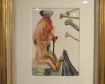Grafik von Salvador Dali, gerahmt mit Passepartout im Echtgoldrahmen.jpg