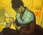 """Leinwandbild von Vincent van Gogh """"Lesende"""".jpg"""