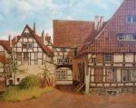 """Oelbild Hameln """"Hinterhof Himmelreich"""" von Reupers.jpg"""