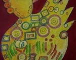"""Acrylbild """"Hahn"""" von de Koning.jpg"""