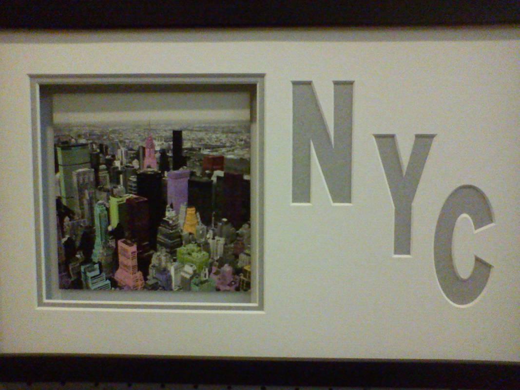 New York Bild mit individuellem Passepartout